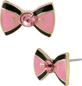 Betsey Johnson Paris Pink Bow Stud Earring