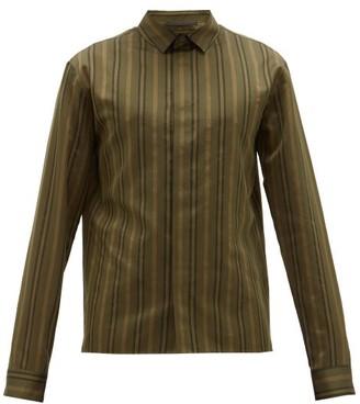 Haider Ackermann Regency-striped Cotton-blend Shirt - Khaki Multi