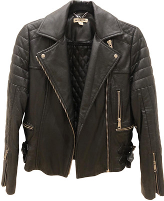 Whistles Black Leather Leather jackets