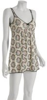 cream floral jersey 'Chantel' chemise