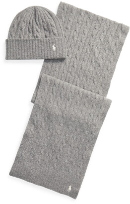 Ralph Lauren Cable-Knit Hat Scarf Gift Set