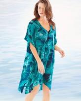 Soma Intimates Chiffon Caftan Swim Cover Up Palm Atlantis Jade