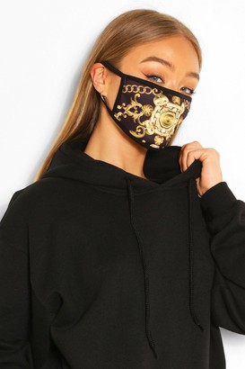 boohoo Chain Print Fashion Face Mask