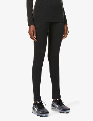 FALKE ERGONOMIC SPORT SYSTEM Wool-Tech high-rise wool-blend leggings