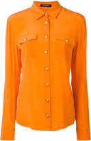 Balmain chest pocket button-up shirt - women - Silk - 36
