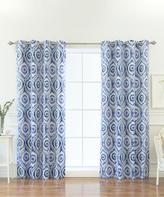Best Home Fashion Sun Burst Shibori Blackout Curtain Panel - Set of Two