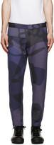 Alexander McQueen Blue Camo Skull Lounge Trousers