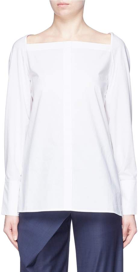 Dion Lee Slit sleeve convertible twist yoke shirt