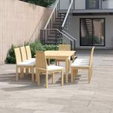 Anthony Logistics For Men Foundstone Outdoor Patio 9 Piece Teak Dining Set with Cushions Foundstone