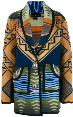 Jessie Western Patterned Cardi-Coat