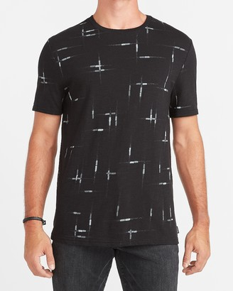 Express Printed Slub Crew Neck T-Shirt