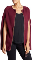 Julie Brown Robyn Faux Leather Trim Zip-Up Cape