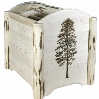 Millwood Pines Silber Laser Engraved Magazine Rack Color: Clear Lacquer Finish