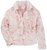 Milly Minis Knit Faux Fur Jacket (Toddler & Little Girls)