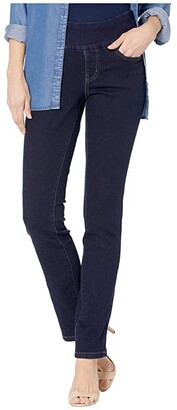 Jag Jeans Peri Pull-On Straight Jeans in Butter Denim (Ink) Women's Jeans
