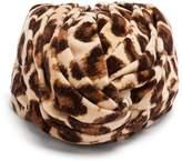 Gucci Leopard-print velvet turban headband