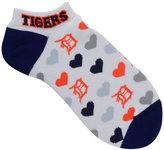 For Bare Feet Women's Detroit Tigers Heart Logo Repeat Socks