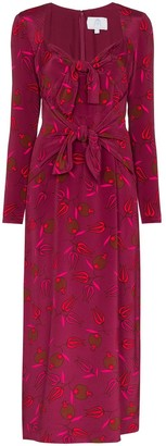 Rebecca De Ravenel Zaza double-tie silk dress