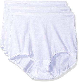 Shadowline Women's Plus-Size Panties-Cotton Brief (3 Pack)