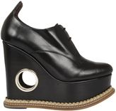 Paloma Barceló Paloma Barcelo` Leather Wedge Lace-up Shoes
