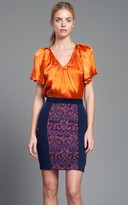 Tracy Reese Combo Skirt