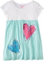 Design History Crochet Lace Dress (Toddler/Kid) - White/Pale Aqua-5