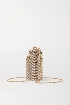 Rosantica Orfea Mini Fringed Crystal-embellished Gold-tone Shoulder Bag - Silver