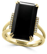 Effy 14K Yellow Gold Onyx Ring with 0.05 TCW Diamonds