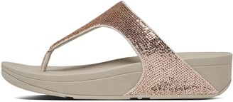 FitFlop Electra Micro-Sequin Toe-Post Sandals