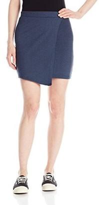 Derek Heart Junior's Rachel's Knit Denim Envelope Skirt