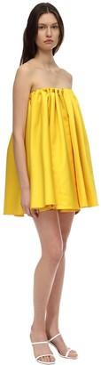 Sara Battaglia Strapless Duchesse Mini Dress