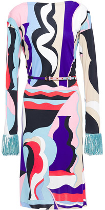 Emilio Pucci Embellished Printed Stretch-jersey Dress