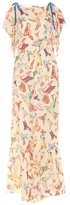 RED Valentino Printed Silk Jumpsuit
