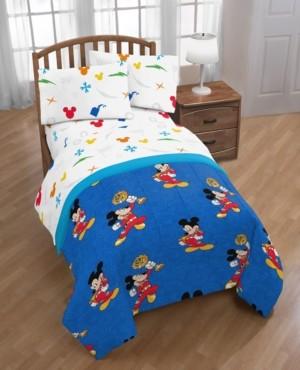 Disney Junior Mickey Mouse Roadster Racer Trophy Reversible Twin Comforter Bedding