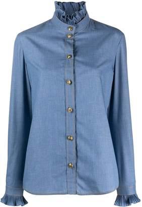 Philosophy di Lorenzo Serafini Long-Sleeved Ruffled-Neck Shirt