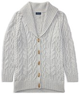Ralph Lauren Girls' Shawl-Collar Cardigan - Big Kid