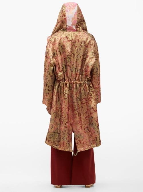 Thumbnail for your product : RIANNA + NINA Vintage Silk-brocade Hooded Coat - Multi