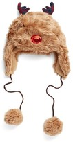 Collection XIIX Women's Reindeer Trapper Hat - Brown