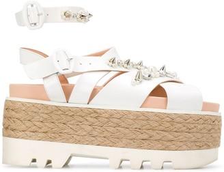 Simone Rocha Embellished Espadrille-Platform Sandals