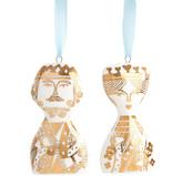 Jonathan Adler Porcelain King & Queen Ornament Set
