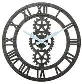 Infinity Instruments Balanced Gear Wall Clock - Black