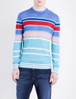 Diesel K-colonial striped linen-blend sweatshirt