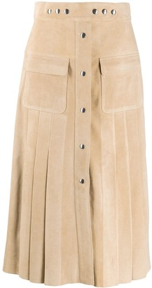 Prada A-line midi skirt