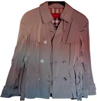 Burberry Silver Polyester Trench coats