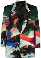 Thumbnail for your product : Edward Crutchley x Erik Jones Pauline-print blazer