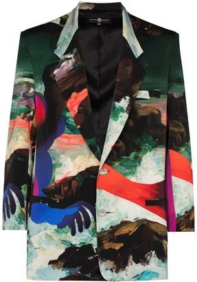 Edward Crutchley x Erik Jones Pauline-print blazer