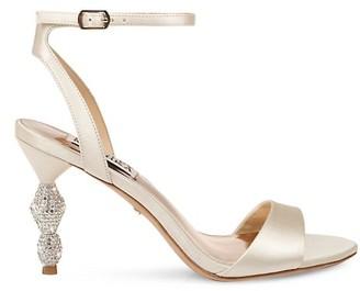 Badgley Mischka Evamarie Satin Heeled Sandals