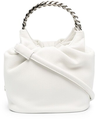 Casadei Chain-Link Handle Tote Bag