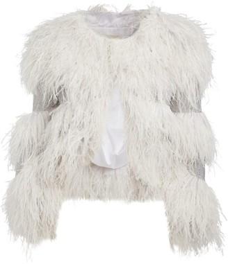 Mikael D Embellished Feather Jacket
