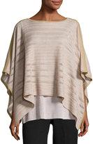 Misook Knit Poncho-Style Tunic, Saddle